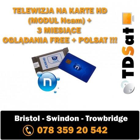 Telewizja Na Karte Polsat.Telewizja Na Karte Hd Modul Ncam 3 Miesiące Oglądania Free Polsat Tdsat